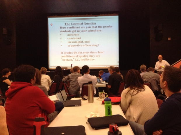 Ken O'connor working with teachers at the International School of Prague
