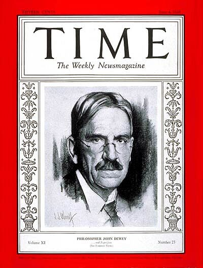 John Dewey on the cover of Time Magazine, June 4, 1928