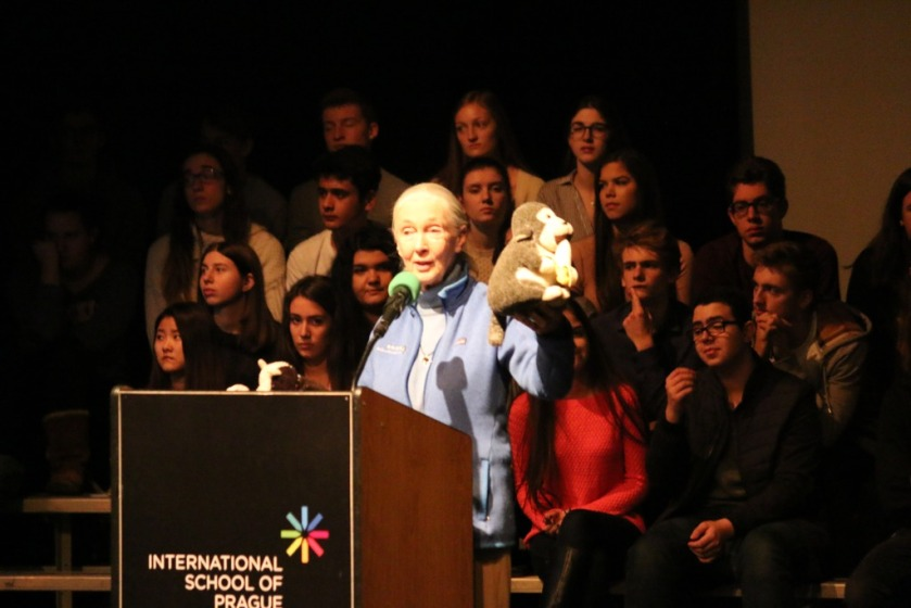 Dr. Goodall at ISP